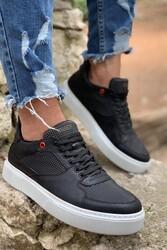 Pabucmarketi - Pabucmarketi Erkek Günlük Ayakkabı 035 Siyah (Beyaz Taban)