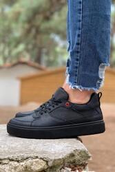 Pabucmarketi - Pabucmarketi Erkek Günlük Ayakkabı 035 Siyah (Siyah Taban)