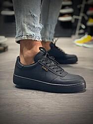 Pabucmarketi - Erkek Günlük Ayakkabı 666 Siyah (Siyah Taban)